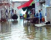 حیدر آباد: شہر میں ہونے والی موسلا دھار بارش قاسم آباد کے علاقہ میں ..