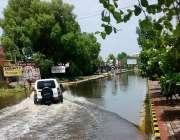 حیدر آباد: دورویہ ٹھنڈی سڑک جس پر تمام انتظامیہ آفس واقع ہیں اس کا ایک ..