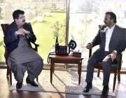 اسلام آباد: چیئرمین سینیٹر محمد صادق سنجرانی سے عون عباس بپی ایم ڈی ..