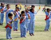 حیدر آباد:بچے ایئر فاؤنڈیشن سکول حیدر آباد کے سالانہ سپورٹس گالا کے ..