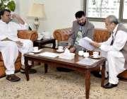 اسلام آباد: وفاقی وزیر سائنس اینڈ ٹیکنالوجی فواد حسین چوہدری چیئرمین ..