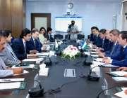 اسلام آباد: وفاقی وزیر منصوبہ بندی ترقی و اصلاحات مخدوم خسرو بختیار ..