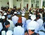 لاہور : جامع نعیمیہ کے ایڈمن مولانا فاروق امیر کی والدہ کے ایصال ثواب ..