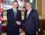 لندن: وزیر خارجہ مخدوم شاہ محمود قریشی برطانوی ہم منصب سے ملاقات کے ..