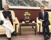 اسلام آباد: صوبائی وزیر صنعت و تجارت میاں اسلم اقبال چین کے سفیر یاؤ ..
