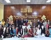 """اسلام آباد: اسلام آباد ماڈل گرلز کالج میں """"محفل مشاعرہ"""" کے فاتح طالبات .."""