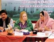پشاور: کے پی سی ایس ڈبلیو کی رکن مس شمامہ ارباب صوبائی اسمبلی کے اراکین ..