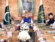 اسلام آباد: صدر مملکت ڈاکٹر اعارف علوی ایک اجلاس کی صدارت کر رہے ہیں۔