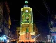 پشاور: عید میلاد النبی (ص) کی تقریبات کے سلسلے میں رنگ برنگی روشنیوں ..