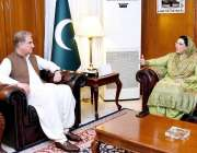 اسلام آباد: وزیر خارجہ مخدوم شاہ محمود قریشی سے وزیر اعظم کی معاون خصوصی ..