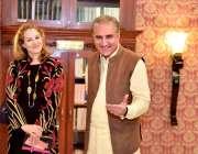 اسلام آباد: وزیرخارجہ شاہ محمودقر یشی ورلڈ فوڈ پروگرام کی خصوصی مشیر ..