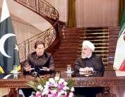 تہران: وزیر اعظم عمران خان اور صدر حسن روحانی مشترکہ پریس کانفرنس کر ..