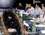 لاہور: صوبائی وزیر خزانہ مخدوم ہاشم جواں بخت آسٹریٹی کمیٹی کے آٹھویں ..