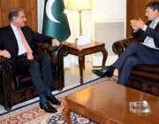 اسلام آباد: وفاقی وزیر خارجہ مخدوم شاہ محمود قریشی سے یو این ڈی پی کے ..
