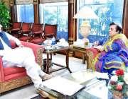 اسلام آباد :وزیر اعظم عمران خان سے وزیر برائے انسانی حقوق شیریں مزاری ..