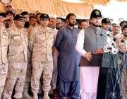 کوئٹہ: وزیر مملکت برائے سیفران و نارکوٹکس کنٹرول شہر یار خان آفریدی ..