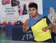 پشاور: پہلے ڈی جی سپورٹس آل پاکستان ٹیبل ٹینس ٹورنامنٹ میں شریک کھلاڑی ..