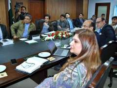 ISLAMABAD: Federal Minister for Planning, Development and Reform Makhdoom Khusro Bakhtiar & Federal Minister for Ports and Shipping Syed Ali Zaidi meeting to discuss progress on Gwadar Port City Master Plan.