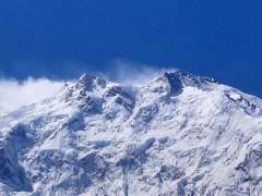 GILGIT: An attractive and eye-catching view of snow covered mountains.