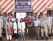 کراچی: شمس پیر جزیرے میں پاک بحریہ کے ذریعہ قائم مفت میڈیکل کی تکمیل ..
