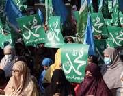 حیدرآباد، جماعت اسلامی کی خواتین کارکن فرانسیسی صدر اور حکومت کیخلاف ..