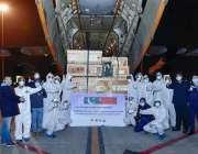 چین، چینی حکام کورونا وائرس سے بچائو کیلئے امدادی سامان پاکستان ائیر ..