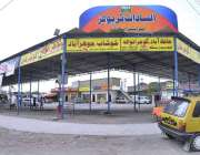 اسلام آباد: لاک ڈاؤن کے دوران بین الصوبائی بس ٹرمینل کا ویران نظارہ۔