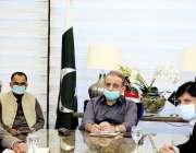 لاہور، سینئر وزیر عبدالعلیم خان محکمہ خوراک کے اعلی سطحی بریفنگ اجلاس ..