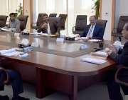 اسلام آباد، چئیرمین نیب جسٹس ریٹائرڈ جاوید اقبال اعلی سطحی اجلاس کی ..