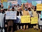 پشاور، باڑہ لیویز اور خاصہ دار فورس کے اہلکار اپنی بحالی کے حوالے سے ..