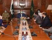 کراچی، گورنر سندھ عمران اسماعیل سے پاکستان فارماسیوٹیکل مینوفیکچرز ..