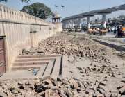 لاہور : سرکاری محکمے نے تاریخی شالیمار باغ کی بیرونی دیوار سے ملحقہ ..