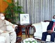 اسلام آباد، سبکدوش ہونے والے نائیجرین سفیر میجر جنرل ریٹائرڈ آشیمیو ..