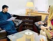 اسلام آباد، وفاقی وزیر پوسٹل سروسز مراد سعید سے اپنے والد، دادا اور ..