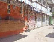 حیدرآباد، سندھ ترقی پسند پارٹی کی احتجاج کی کال پر قاسم آباد میں دکانیں ..