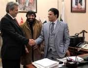 لاہور: اوور سیز کمیشن پنجاب کے وائس چئیر مین چوہدری وسیم سے پاک یو ایس ..