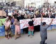کراچی، محمودآباد کے رہائشی تجاوزات اور چائنا کٹنگ کیخلاف احتجاجی مظاہرہ ..