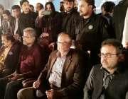 فیصل آباد، مسلم لیگ ن ورکرز کنونشن کے موقع پر ن لیگی قائدین سٹیج پر ..