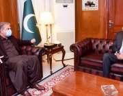 اسلام آباد، وزیر خارجہ شاہ محمود قریشی سے ریکٹر نمل میجر جنرل محمود ..
