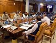 وزیراعلی بلوچستان جام کمال خان صوبائی کابینہ کے اجلاس کی صدارت کر رہے ..