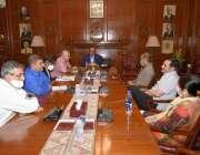 اسلام آباد: گورنرسندھ عمران اسماعیل صوبہ میں شجر کاری کے حوالے سے اجلاس ..