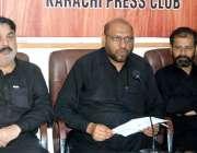 کراچی، پریس کلب میں تحریک نفاد فقہ جعفری صوبائی کونسل سندھ ڈپٹی کنوینر ..