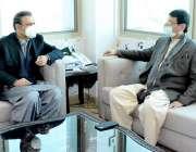 اسلام آباد، وفاقی وزیر انفارمیشن ٹیکنالوجی سید امین الحق سے چئیرمین ..