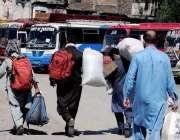 راولپنڈی: لاک ڈاؤن کے باعث پبلک ٹرانسپورٹ بند جبکہ آبائی علاقوں کو ..