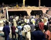 کراچی، نیو کراچی صنعتی ایریا میں کولڈ سٹوریج فیکٹری میں دھماکے کے بعد ..