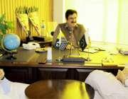 مظفر آباد: آزادکشمیر کے وزیر اطلاعات راجہ مشتاق احمد منہاس سے وزیر ..