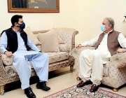 اسلام آباد، وزیر خارجہ شاہ محمود قریشی سے گورنر سٹیٹ بینک ڈاکٹر رضا ..