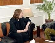 لاہور : آئی جی پنجاب شعیب دستگیر سے  برطانوی سفارتخانے کا وفد ملاقات ..