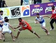 فیصل آباد: اقبال اسٹیڈیم میں کبڈی ورلڈ کپ 2020 کے دوران آذربائیجان اور ..