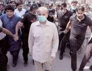 لا ہور: مسلم لیگ (ن) کے صدر شہباز شریف ہائی کورٹ میں پیشی کیلئے آرہے ہیں۔